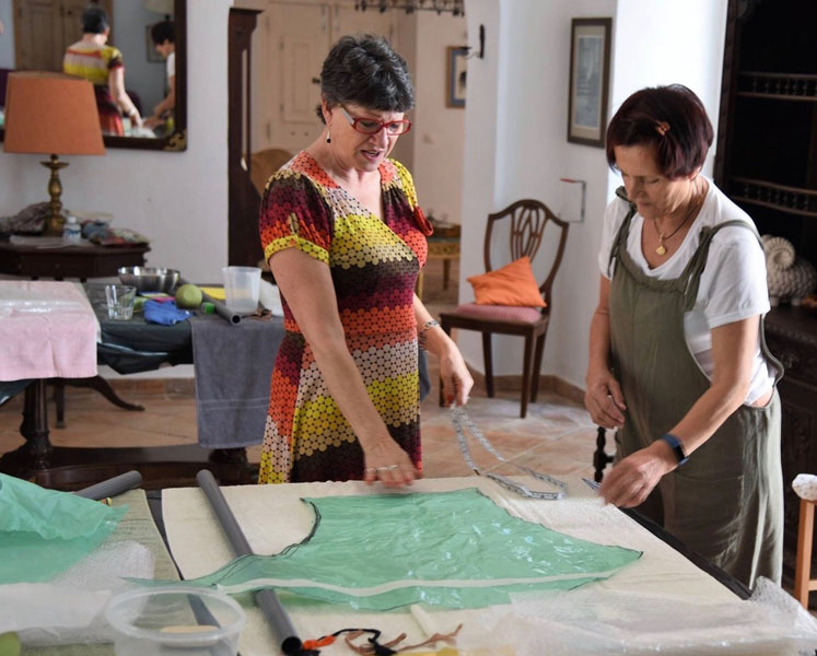 Denise with workshop student